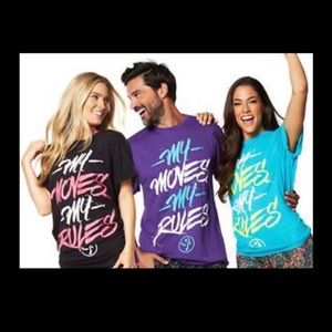 NWT. Zumba T Shirt $10 Each